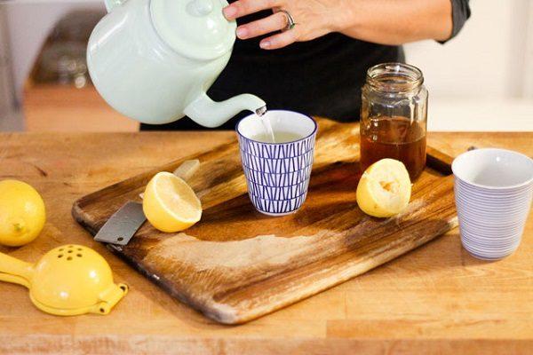 Eau de cuisson au miel et au citron
