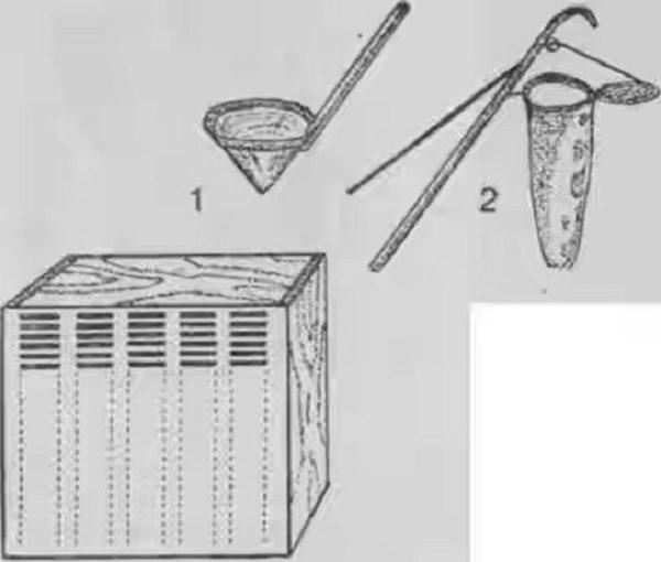 La conception de Butlerov avec un scoop et un roznimitel