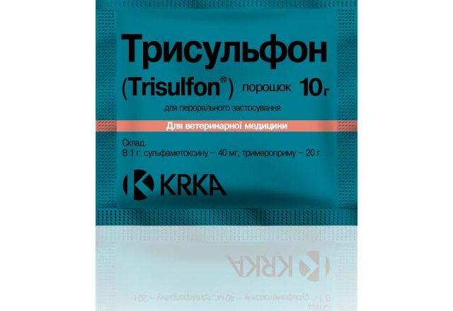 Préparation Trisulfon pour le traitement de maladies chez le lapin